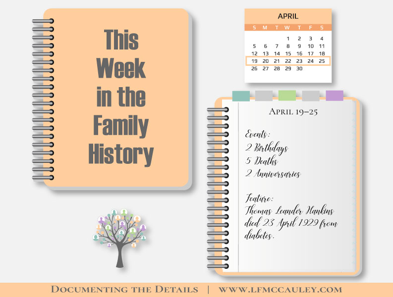 This Week in the Family History: April 19–25