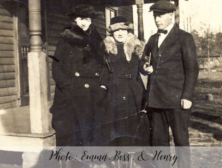 Photo: Emma, Bess, and Henry Hopkins