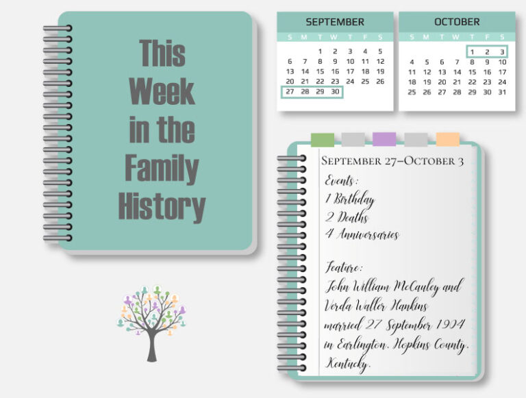 This Week in the Family History: September 27–October 3