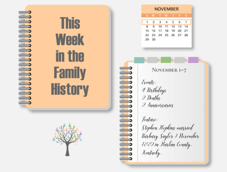 This Week in the Family History: November 1-7