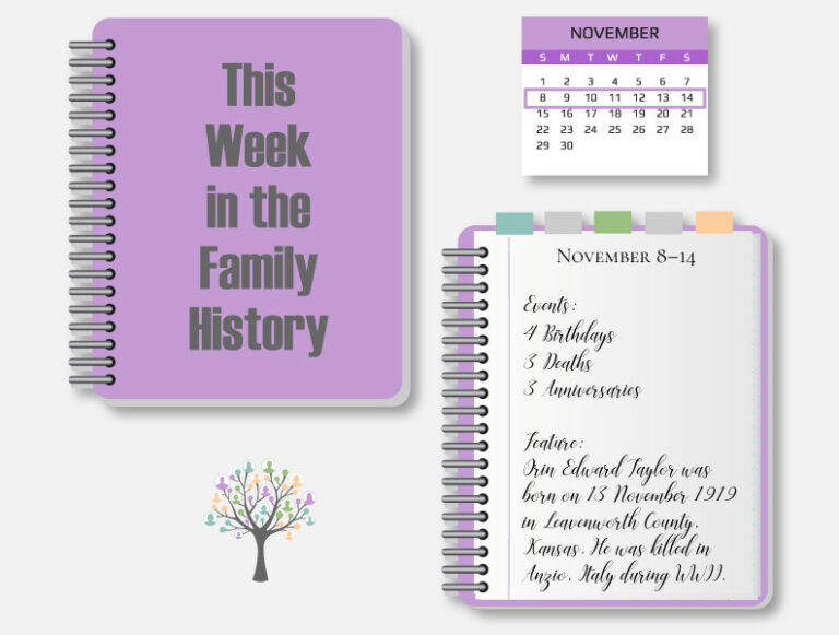 This Week in the Family History: November 8-14