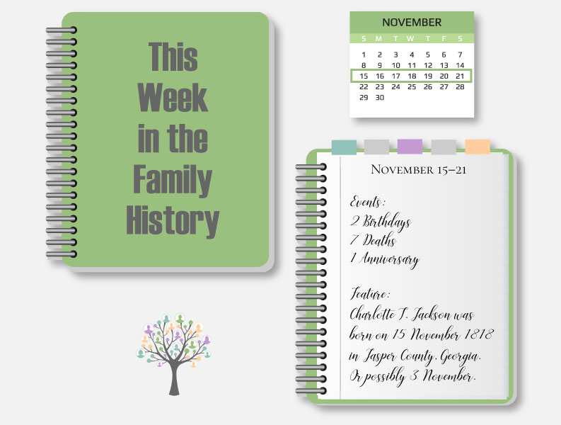 This Week in the Family History: November 15–21