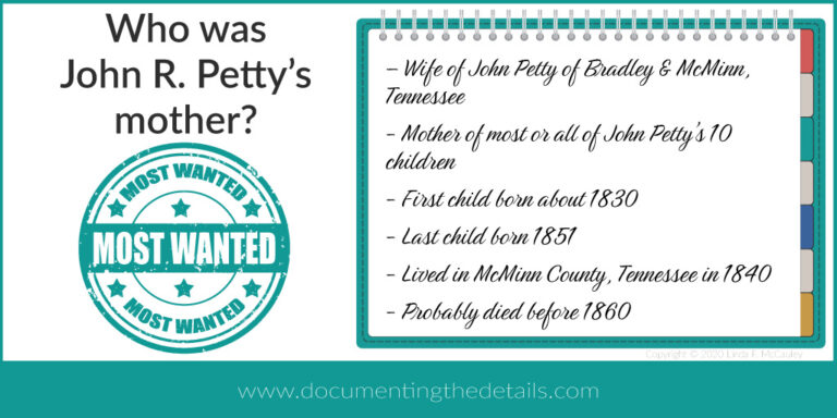 Who was John Petty's mother?
