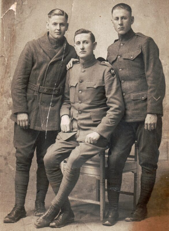 Jimmy, Elvie, & Perry Hankins, France 1918