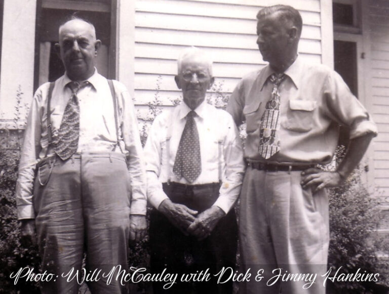 Will McCauley (center) with Dick & Jimmy Hankins
