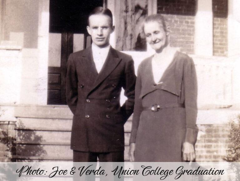 Photo: Joe & Verda, Union College Graduation